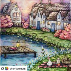 Que Maravilha!   Tím @cherrycolours s @repostapp #romanticcountry #coloringbook…