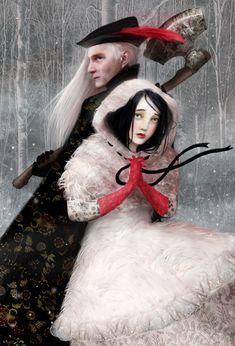 Blanche-neige et le bûcheron