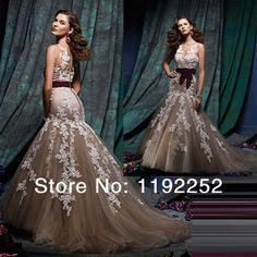 New 2014 custom made top sexy mermaid plus size grey tulle cheap elegant evening dresses prom with handmade flower for party $130.00