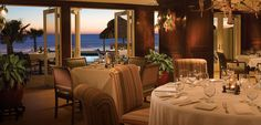 Dining room of Azure restaurant