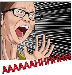 Meme Faces, Funny Faces, Funny Webcomics, Otaku Issues, Reaction Face, Fandom Memes, Webtoon Comics, Me Too Meme, Cute Chibi