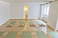 Yogagarage is also available for rent. Host your yoga lesson or meditation workshop at our beautiful boutique yoga studio in Zurich's old town.