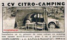 Compact Car Camping Essentials - Way Outdoors Citroen Ds, Camping 2, Psa Peugeot, 2cv6, Camper Caravan, Camper Van, Mini Camper, Cool Vans, Vintage Caravans