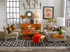 Living Room - Eclectic ......absolutely & not afraid of colour either.  (re-pinned from Jonathan Adler)