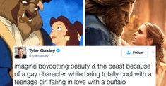 "People Are Confused By The ""Beauty And The Beast"" Gay Character Backlash. So I guess we're just going to forget about that whole bestiality thing then."