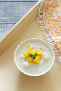 Mango mint raita recipe | How to make mango raita with mint