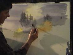 ▶ David Bellamy paints a waterfall in watercolour Part 1 - YouTube