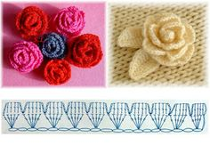 Irish lace, crochet, crochet patterns, clothing and decorations for the house, crocheted. Crochet Flower Hat, Crochet Lace Edging, Knitted Flowers, Bead Crochet Rope, Crochet Diagram, Crochet Bunny, Crochet Chart, Irish Crochet, Crochet Leaf Patterns