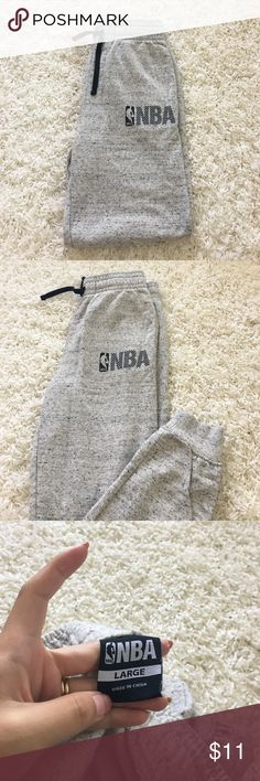 NBA soft heather gray joggers Maybe worn once or twice, they were too small on my husband. Listed as Nike for exposure. Make an offer or bundle to save 15% ❤ Nike Pants Sweatpants & Joggers