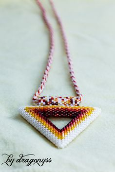 Ygritte beaded triangle pendant by CraftsByDragonyss on Etsy