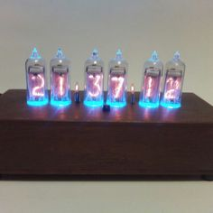 Nixie tubes clock with IR remote and temperature sensor. Nixie Tube, Original Gifts, Digital Alarm Clock, Gifts For Father, Clocks, House Warming, Remote, Shapes, Retro
