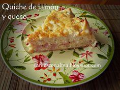 Quiche facil de jamon y queso