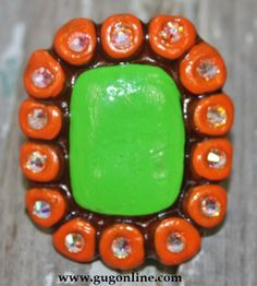 Presidio Lime and Orange Ring $29.95 www.gugonline.com