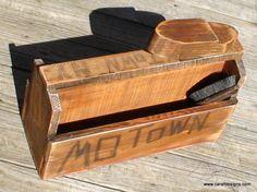 Vintage Shoe Shine Box  . .Tarry Town New York.  Anthony Raffaele www.carafdesigns.com