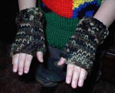 Boys Ninja Gloves | Hook, Yarn, and Needles the Old Stuff Uses Shallow Single Crochet st