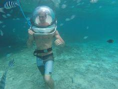 Undersea Walk at Belle Mare.  Aqua Sea Ltd - Rs2800 for 2 people, plus photos.