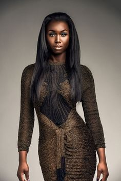 Korlekie gold and black knitted dress Fab Afriq editorial featuring Nana Afua Antwi