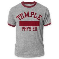 Temple University Men's Ringer Tee
