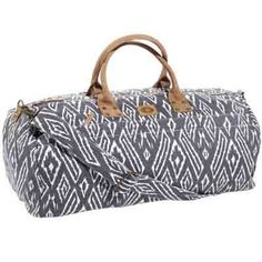 A weekender bag from John Robshaw Textiles