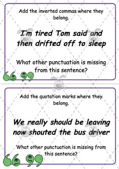Teacher's Pet - Editable Punctuation Challenge Cards (Speech Marks Pack 2) - Premium Printable Classroom Activities and Games - EYFS, KS1, KS2, speech marks, inverted commas, quotation marks, SPaG, SGaP