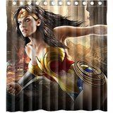 Custom Marvel Heros Wonder Woman Waterproof Polyester Fabric Bathroom Shower Curtain Standard Size 66wx72h ** You can find more details by visiting the image link.Note:It is affiliate link to Amazon.