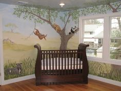 I'm loving this safari baby theme, love the jungle and baby gets to learn about animals at the same time...just have to sell the husband on the mural