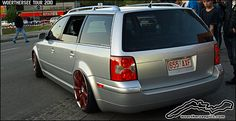 passat wagon rims | Silver VW Passat Wagon on Bentley wheels at the Wörthersee Tour 2010 ...