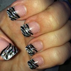 My zebra print nails for New Year's night.