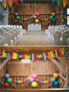 Rainbow decoration ideas for your wedding reception #rainbow #wedding