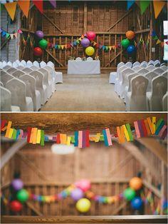 rainbow wedding reception ideas