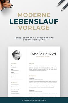 Modern CV Template with Photo Creative Cv Template, One Page Resume Template, Modern Resume Template, Cover Letter For Resume, Cover Letter Template, Resume References, Microsoft Word 2007, Professional Resume, Marketing