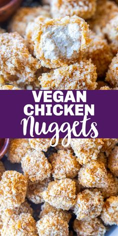 These super Crispy Tofu Nuggets are my vegetarian/vegan version of chicken nuggets! They're full of flavor and baked to perfection in the oven. Great for dipping and kids love them! You can also top your salads with them. #vegan #vegetarian #tofu #chickennuggets Vegetarian Recipes Dinner, Delicious Dinner Recipes, Vegan Vegetarian, Vegan Recipes, Yummy Food, Tofu Nuggets Recipe, Vegan Chicken Nuggets, Eating Healthy, Healthy Meals