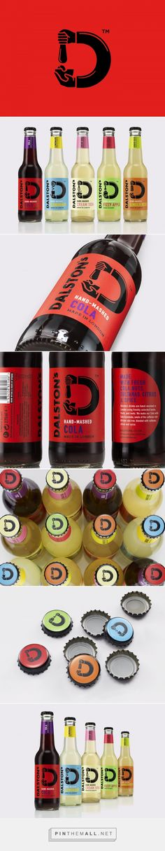 Dalston's Hand-mashed soda drinks packaging design by B&B studio - http://www.packagingoftheworld.com/2016/10/dalstons.html