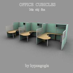 Office Cubicles - 3D Model - ShareCG