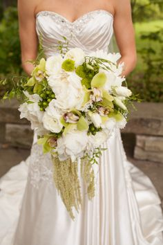Textured White Bridal Bouquet | Leigh Wells Photography | TheKnot.com