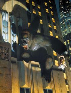 BEST ART EVER (THIS WEEK)--King Kong by Thomas Blackshear