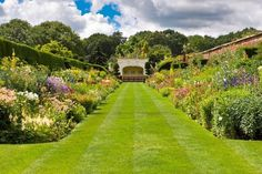 Arley Hall and gardens ,The Herbaceous Border. Cheshire
