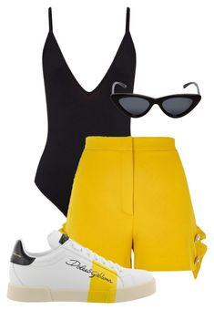 """""""Untitled #121"""" by sofiaosousa on Polyvore featuring River Island, Le Specs and Dolce&Gabbana"""