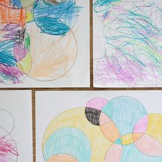 Keep kids busy and occupied with this simple circle drawings that are fun for kids to color. Easy indoor activity for summer, winter, or anytime!
