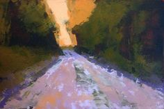 "Back Road oil 6 x 4"" © Mary Bentz Gilkerson"