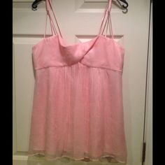 HP 5/4/15 Pink Laundry Shelli Segal Cami Girly Girl HP on 5/4/15 by @kaprior1203Never worn and still has tags from Bloomies attached. Would best fit a sz 10-12. Has belt loops as shown in third pic but I bought on sale and no belt attached then. Sz lg. No stains or damage. PLEASE ASK ALL QUESTIONS PRIOR TO PURCHASE. NO RETURNS! ✂PRICE CUT X3 9/13/15✂️ Laundry by Shelli Segal Tops Camisoles