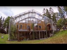 When it comes to extreme greenhouses this one is a new idea to me. This couple has built a greenhouse around their whole house! They live a very cold environment so they wanted to use the energy of the sun to warm their entire house and yard. This seems like a good idea, as the … Organic Architecture, Little Cottages, Natural Living, Architecture, Natural Life, Small Country Homes, Landscape Architecture, Small Cottages
