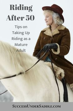 Tips on learning to ride for women over the age of How riding as a mature adult benefits your life. Types Of Horses, Equestrian Outfits, Equestrian Fashion, Equestrian Style, Horse Fashion, English Riding, Horse Training, Training Tips, Injury Prevention