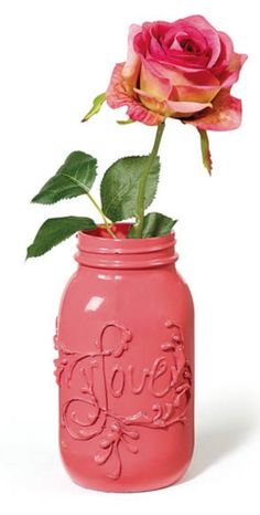 Love Jar | DIY Valentine's Day Vase from @joannstores | Valentine's Day Decorations | Mason Jar Crafts