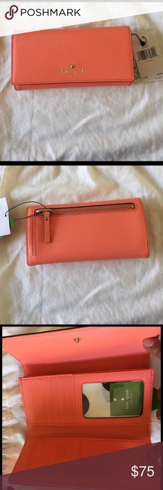 KATE SPADE WALLET Brand new with tags KATE SPADE WALLET. Beautiful Coral color. Perfect for Spring! kate spade Bags Wallets