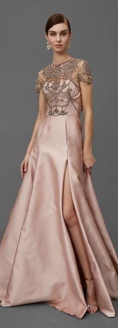 Marchesa Pre-Fall 2016 - I could do without the super high slit but otherwise I love it.