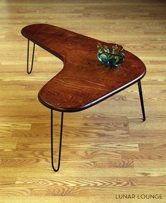 Café de Boomerang de table maply plis Mid par LunarLoungeDesign