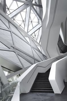 10 Inspirational and Architectural Lessons from Zaha Hadid - architecture Perspective Architecture, Texture Architecture, Futuristic Architecture, Contemporary Architecture, Amazing Architecture, Art And Architecture, Architecture Details, Contemporary Design, Architecture Diagrams