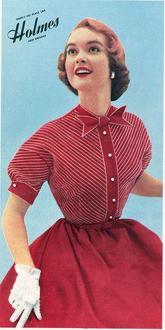 myvintagevogue   Teena Paige Fashions 1953