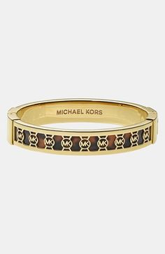 Michael Kors 'Monogram' Logo Hinged Bangle | Nordstrom